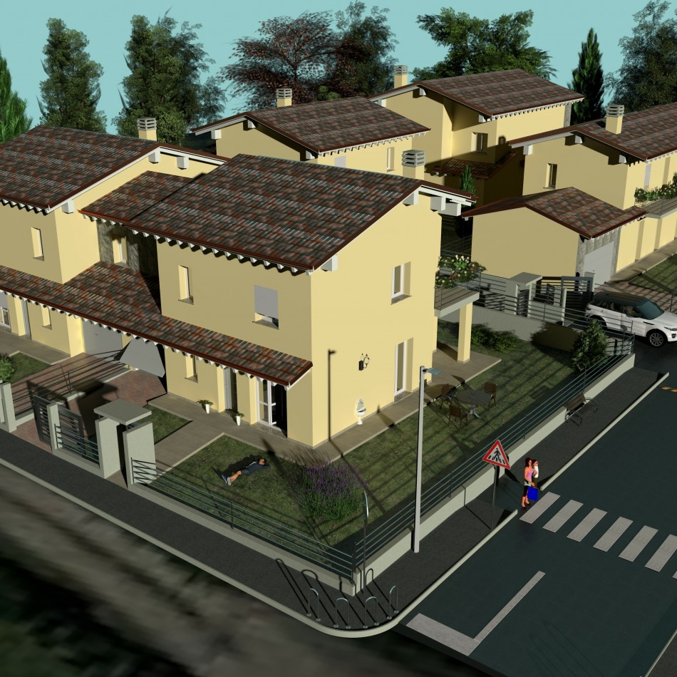 Complesso Residenziale di n° 5 ville in classe energetica